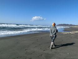 家近くの平砂浦海岸は散歩道