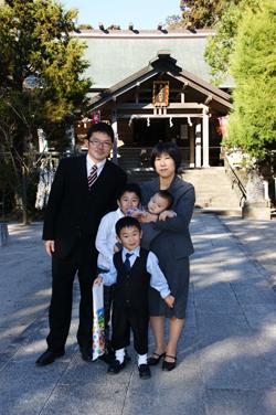岡野さんご家族