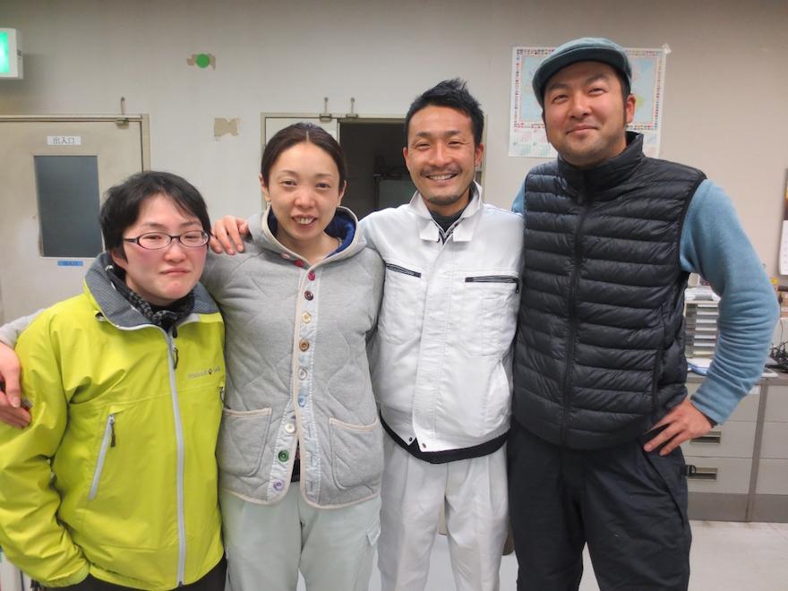 村上さんと林業担当の地域おこし協力隊員たち