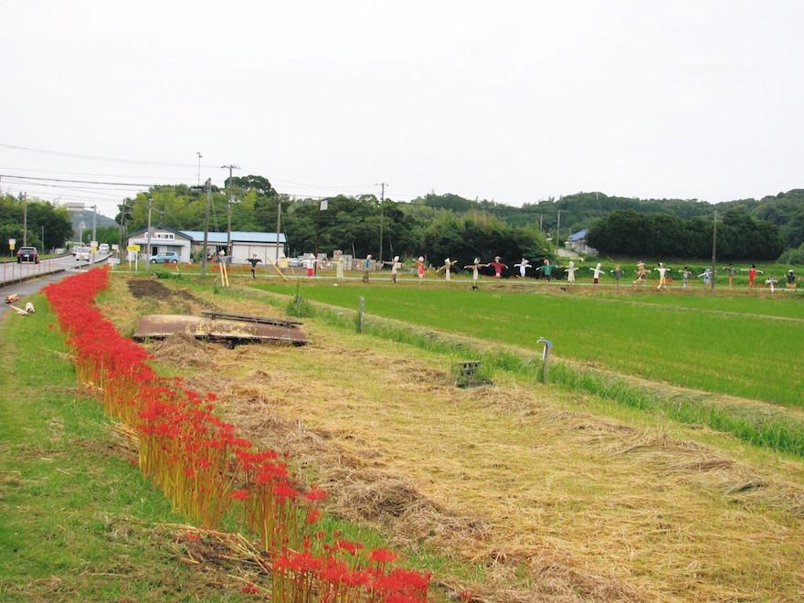 毎年9月「たのくろ里の村」収穫祭で開催される案山子コンテスト