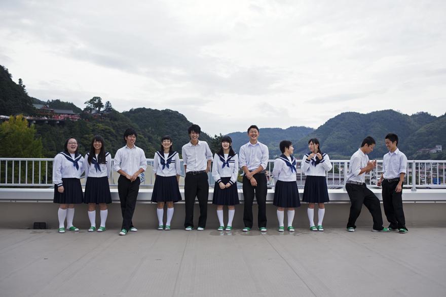 (津和野高校の生徒たち)