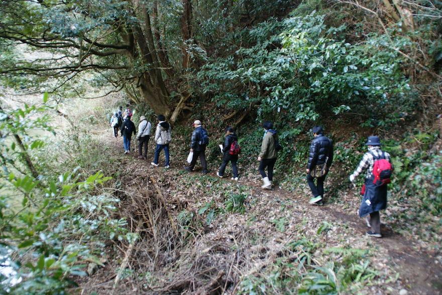 2012年に開催された高鶴山ハイキングの様子