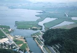 ラムサール条例湿地に登録されている西の湖に位置する「権座」