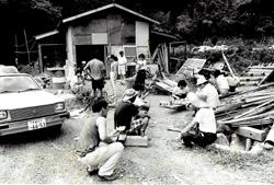 三芳自然塾建設中の風景