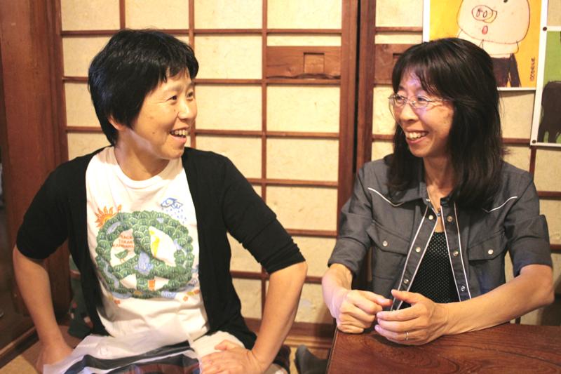 理事長の栗林さん(左)と今回お話を聞かせてくれた副理事長・事務局長の天野さん(右)