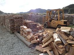 未利用市有地を木質バイオマスヤードに活用