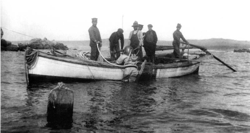 戦前カリフォルニア州モントレーにて小谷源之助、仲治郎兄弟が始めた潜水器漁業で働くために多くの日本人が海を渡った