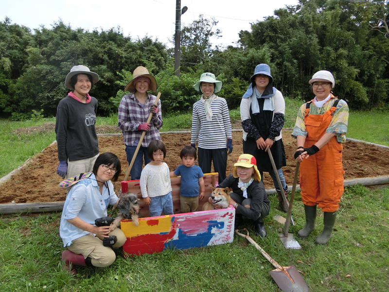 キャンプ場でもある「みよし交流館」の畑でキエーロの堆肥を使った作物の栽培が始まった 施設やキャンプ場の生ごみを再利用する