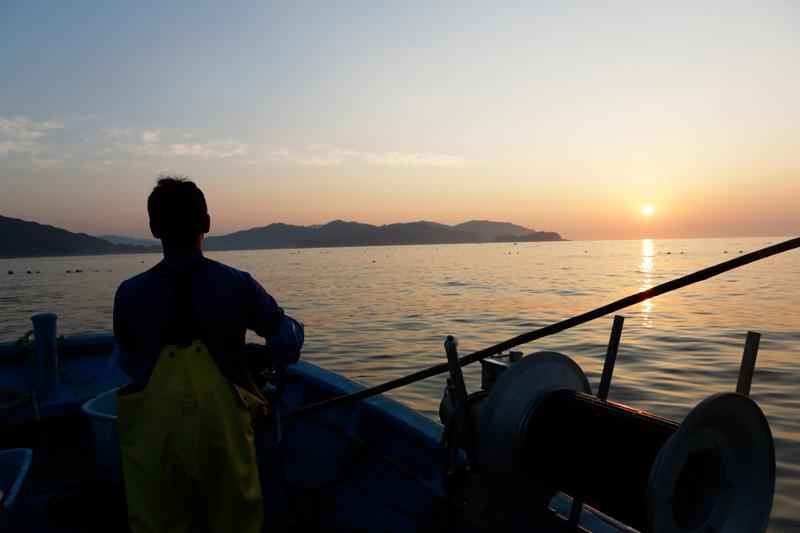 明るくなる前に漁に出る、漁師、堀合俊治さん