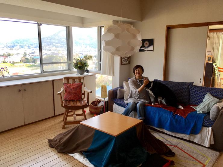 富山(とみさん)から岩井海岸までが一望できる飯田さんが住むマンション