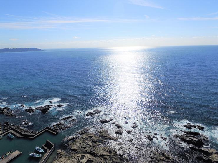 伊戸の海 空撮風景