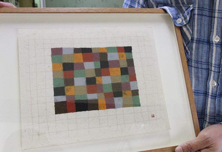 実際に当時描かれた色を塗り込むだけの作品。坂本さんはこうした作品で2005年個展も開催している(ぎゃらりぃ朋/銀座)