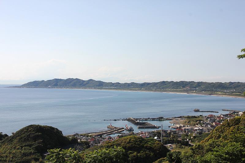 能忍寺から見下ろした布良の眺め
