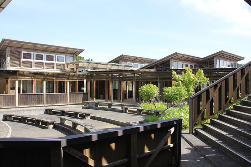 第一回「老川みんな食堂」の開催会場の旧校舎