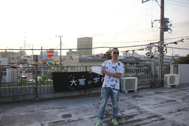 アイディアの発表会は館山の夕日をバックにTUNE<常>の屋上で開催となった