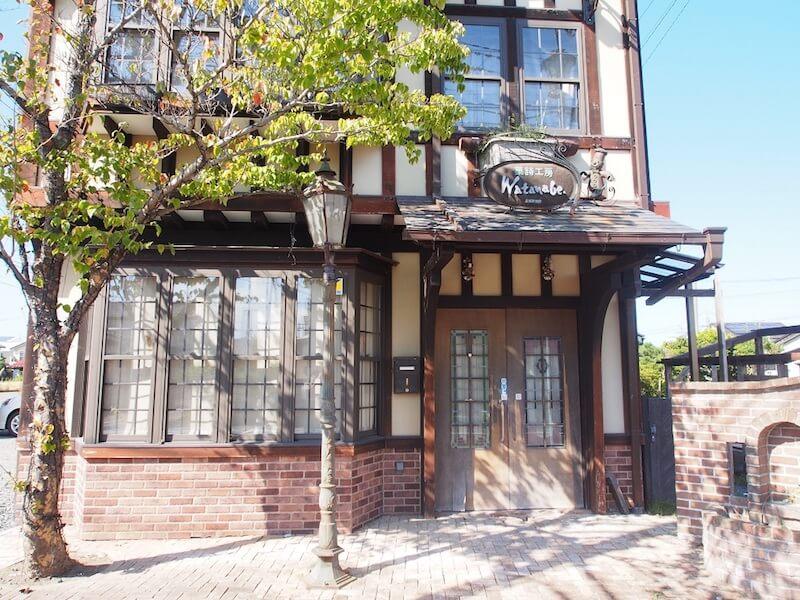 豊田さんのお話に出た菓子工房わたなべ。現在は原町区へ移転し営業を続けている。